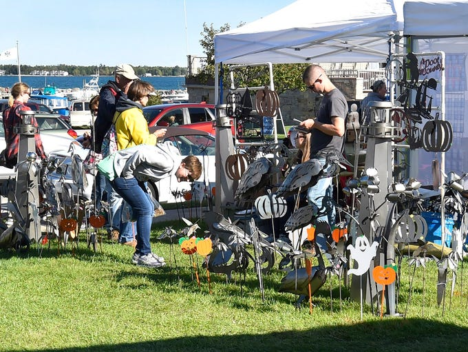 An arts and crafts show was part of the festivities