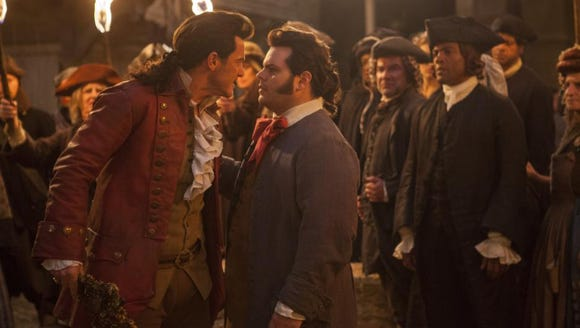 Josh Gad (right) as Le Fou in 'Beauty and the Beast.'