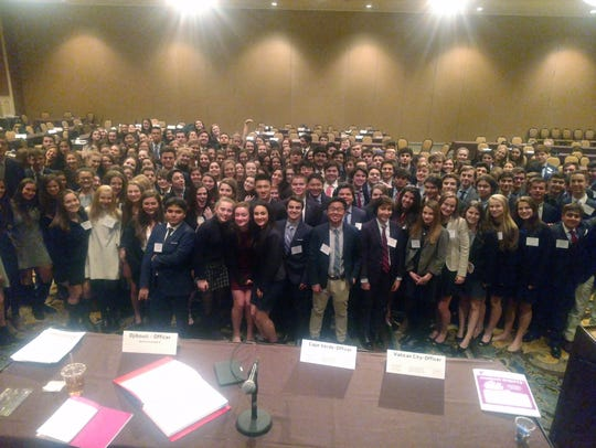 Westfield High School's Model United Nations Club won