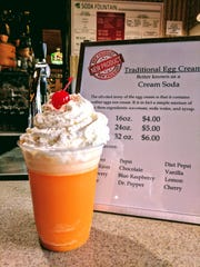 An old-school orange egg cream at the 2017 Indiana