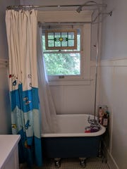The Pennells only had three feet to work with in their upstairs bathroom, so they found a three-foot tub.