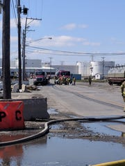 The Port of Wilmington was evacuated after a crash caused about 500 gallons of fuel to spill Friday morning.