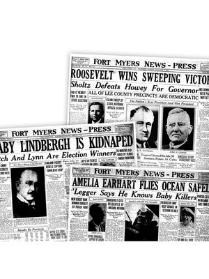 Front pages from 1932.