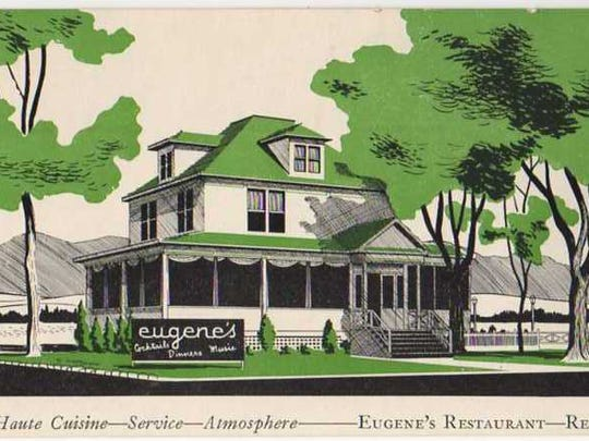 The first Eugene's location is pictured on a menu cover.