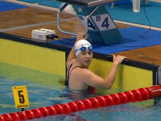 St. Clair High School senior Molly Likins after an event at this summer's Deaflympics.