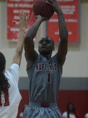 Maplewood's Bo Hodges elevates for a jump shot during