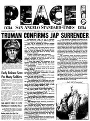 Front page August 1945.