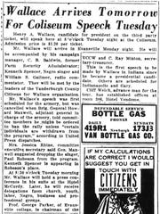 Clipping of The Evansville Press from April 4, 1948.