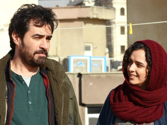 """In """"The Salesman,"""" Emad (Shahab Hosseini) and his wife"""