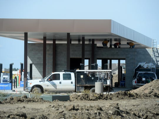 The new Wal-Mart on the far east end of 10th Avenue South will have an eight-pump fuel station.