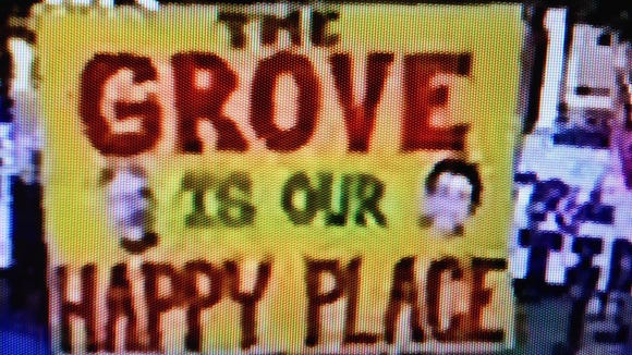Fan sign from Oxford, site of ESPN's College GameDay