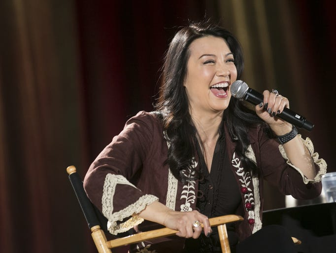 Ming-Na Wen speaks at a panel at Phoenix Comic Fest
