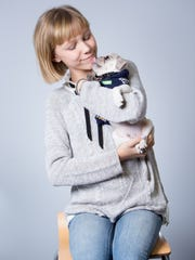 Grace VanderWaal's puppy, Frankenstein, gives her a