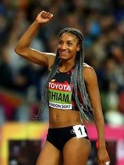 Heptathlon champ Nafissatou Thiam of Belgium.