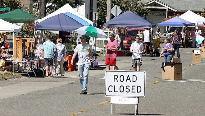 The Union Hill Block Party on Veneta Avenue in 2010. The Bremerton City Council Wednesday slashed the fee to host a block party in Bremerton to $25 (though the 2010 block party would've still required a more expensive permit). MEEGAN M. REID    KITSAP SUN