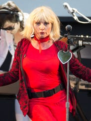 Debbie Harry performs with Blondie in Chelmsford, Essex,