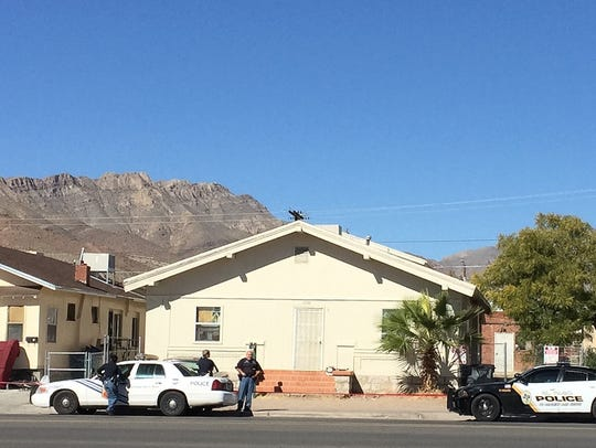 El Paso police on Saturday are shown at the 3500 block