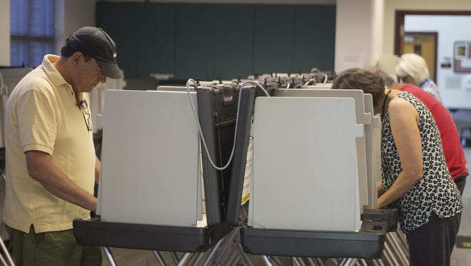 Leon County residents cast their ballots Saturday.  Early voting in Florida's primary began in Leon County, Saturday.