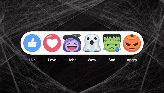 Facebook recently released Halloween-themed reactions.