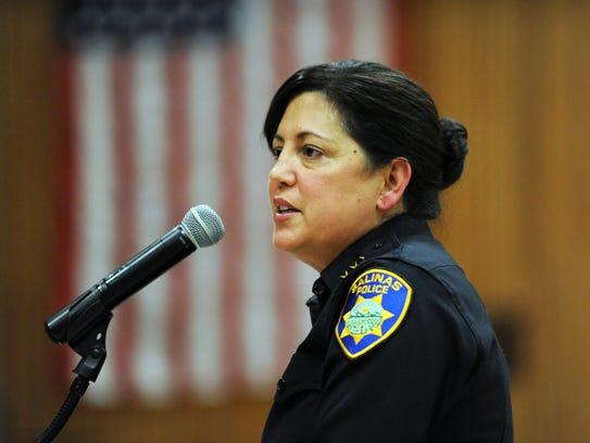 New Salinas Police Chief Adele FresŽé addresses community