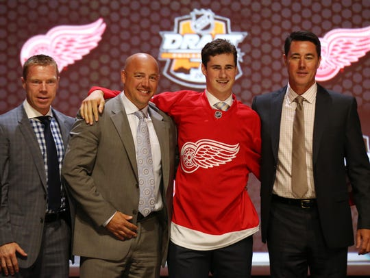 Dylan Larkin, the team's first-round pick from 2014, is captain material.