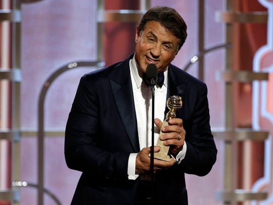 Sylvester Stallone after winning best supporting actor