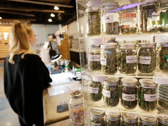 The Reef, a medical marijuana dispensary offers about 60 different strains in Detroit on Friday, September 8, 2017.