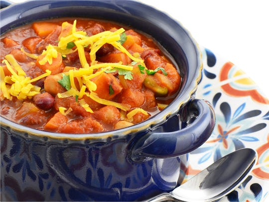 Vegetarian Chili incorporates a medley of beans rich