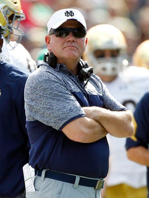 Notre Dame coach Brian Kelly's years just got worse after NCAA violations were announced Tuesday.