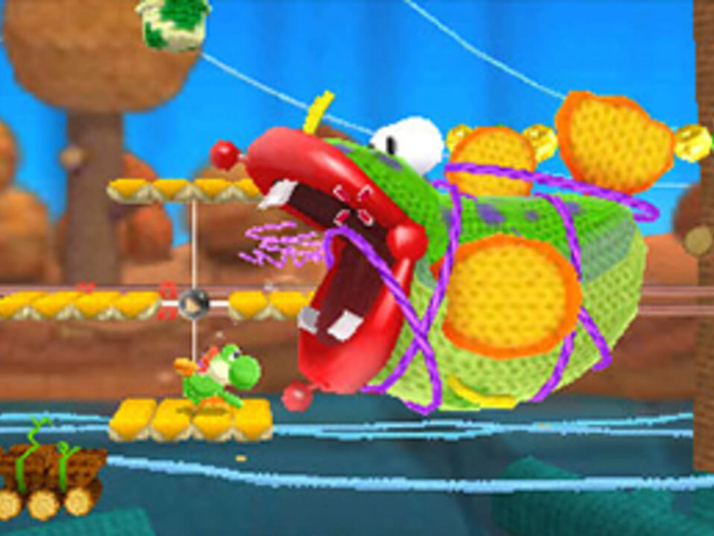 Poochy and Yoshi's Woolly World brings the yarn-style adventure to the 3DS.