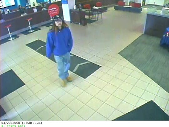 Milwaukee police are seeking this man in the robbery of the BMO Harris bank, 2701 S. Kinnickinnic Ave., on Tuesday, March 20.