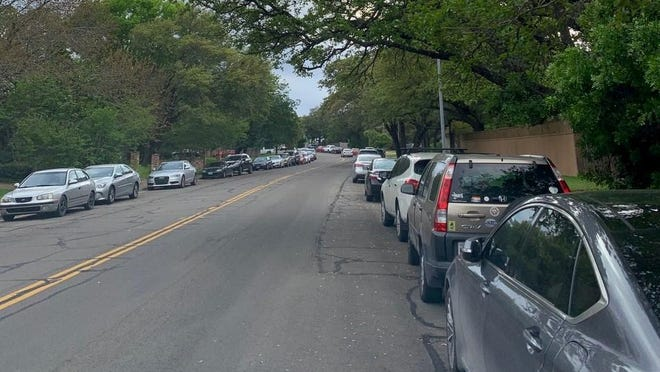 The city is proposing a layered parking program that including paid public parking, resident only parking and no parking zones to address the overcrowding the Woods of Westlake neighborhood is facing from visitors heading to the greenbelt.