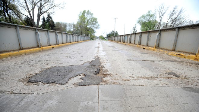 The bridge on Arndt Street between Lincoln Avenue and Satterlee Street is showing signs of serious wear and tear. It is slated for a $2.2 million reconstruction project in 2019.