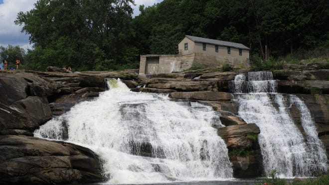 The Great Falls of the Housatonic at Falls Village.