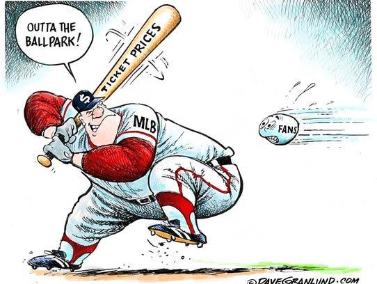 Major League Baseball ticket sticker shock