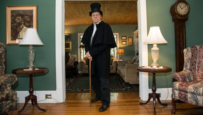 Would you invite this character to supper? Well, Scrooge (Eric Wolf) has invited you.