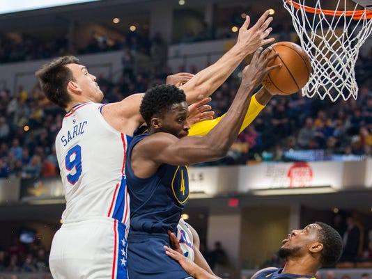 Pacers debut  City  jerseys against 76ers and fans love them 9ab713d22