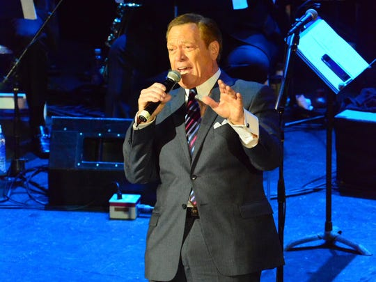 Joe Piscopo, welcomes guests to the 2016 New Jersey Hall of Fame ceremony in Asbury Park.