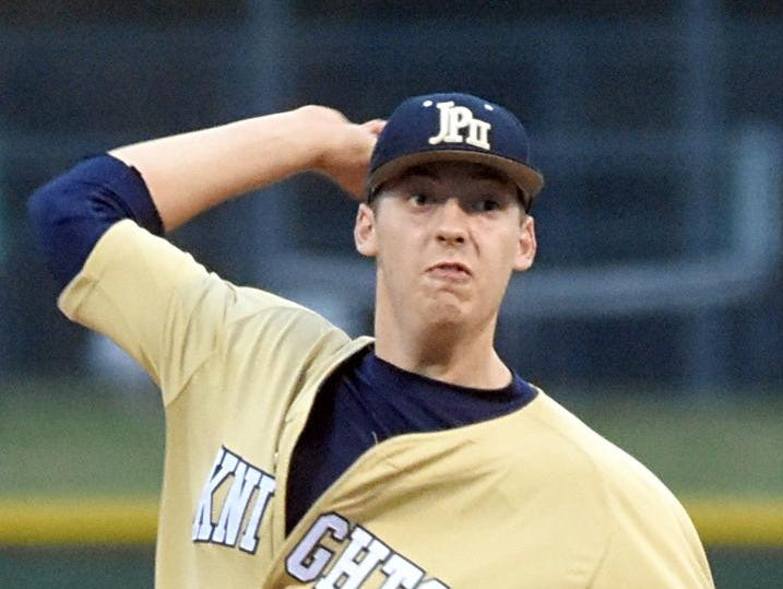 Pope John Paul II High junior Mason Hickman allowed three hits and struck out 10 hitters over six innings of work on Friday evening.