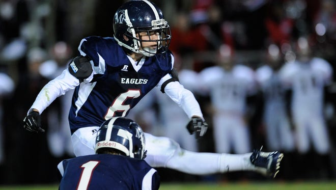 Montgomery Academy's Jimmy Massey kicks an early field goal against TR Miller at the MA Campus in Montgomery, Ala. on Friday November 14, 2014.