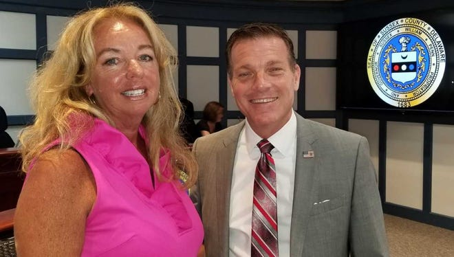 Holly Wingate, of Millville, pictured with Sussex County Councilmember Rob Arlett is the newest member of the county's planning and zoning commission.