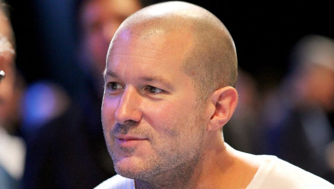 Apple's Senior Vice President of Industrial Design Jony Ive smiles during the at the Apple World Wide Developers Conference in San Francisco, California USA 10, June 2013.  Apple unveiled new software for its computers, smartphones and tablets Monday at the World Wide Developers Conference. Photo by: Christoph Dernbach/picture-alliance/dpa/AP Images ORG XMIT: 130610-90-020092 [Via MerlinFTP Drop]