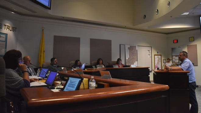 Tom Palmer, a real estate agent from Lindmark Outdoor Media, goes before City Commissioners Tuesday evening to talk about a proposed ordinance on Alamogordo's billboards.