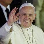Pope Francis arrives in the Phillippines on Jan 15, 2015.
