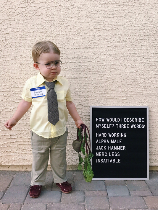 8bf77d990 Chandler toddler's 'The Office' costume goes viral