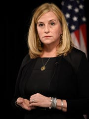 Nashville Mayor Megan Barry speaks to the media at
