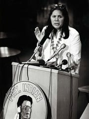 A Native American activist, author and storyteller