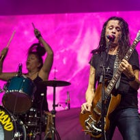 Kat Bjelland performs with Babes in Toyland in October in New Orleans.