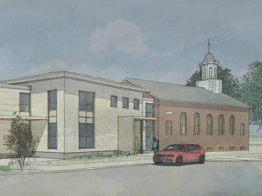 Seen is a rendering of Shelburne's proposed library building. Voters will decide on Nov. 7, 2017, whether to authorize a $6.5 million bond to pay for a new larger library, along with renovations of the Town Hall and improvements to the building that houses the Police Department and town offices.