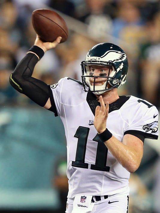 8e6330bae Carson Wentz named starting quarterback for the Eagles